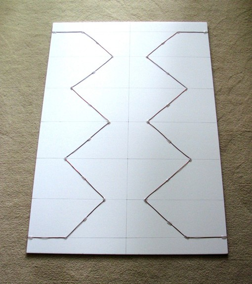 Foamboard panel with active elements attached