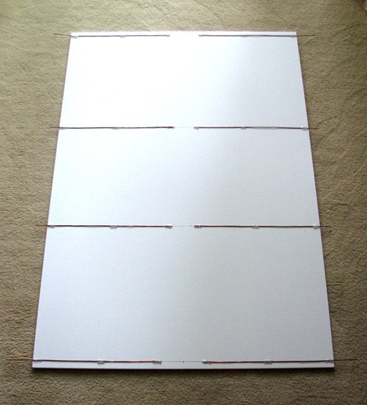 Foamboard panel with reflector elements attached